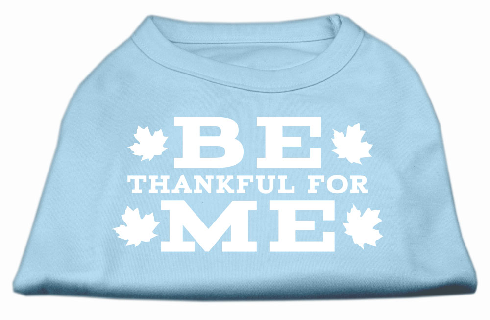 Be Thankful for Me Screen Print Shirt Baby Blue S (10)