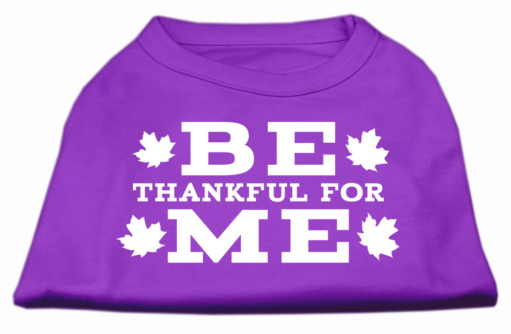 Be Thankful for Me Screen Print Shirt Purple L (14)