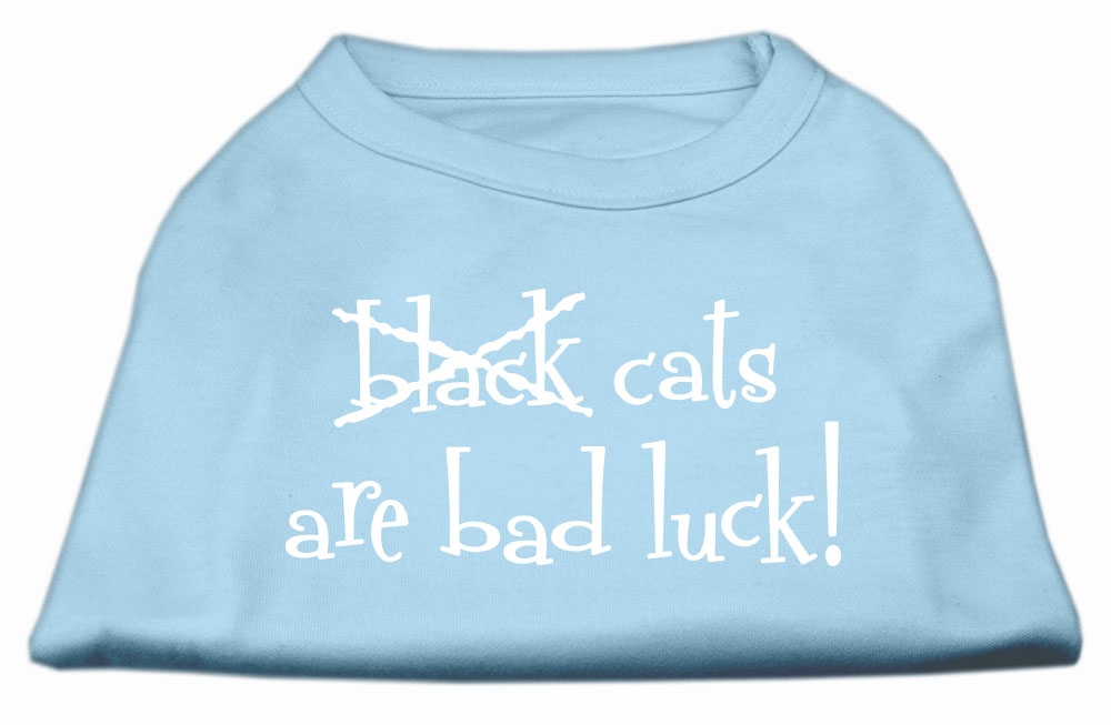Black Cats are Bad Luck Screen Print Shirt Baby Blue M (12)
