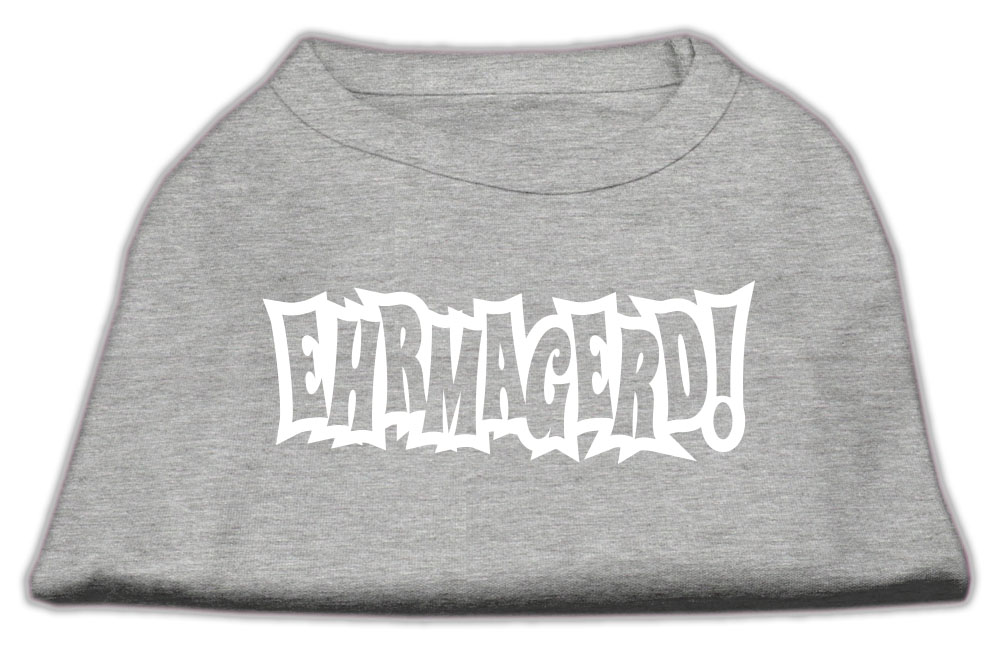 Ehrmagerd Screen Print Shirt Grey XS (8)