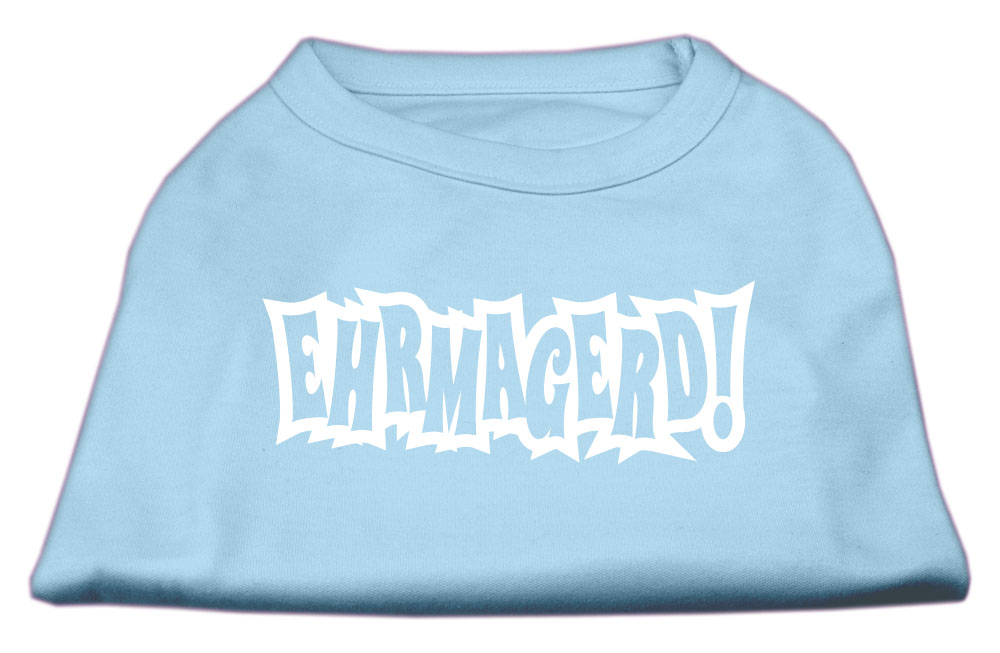 Ehrmagerd Screen Print Shirt Baby Blue XXL (18)