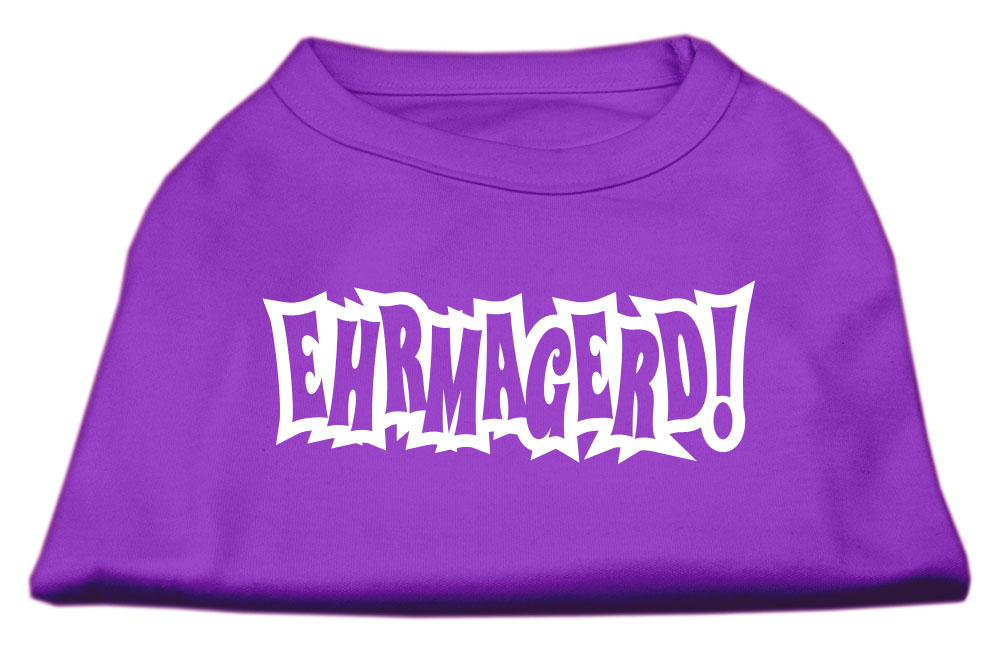 Ehrmagerd Screen Print Shirt Purple XXL (18)