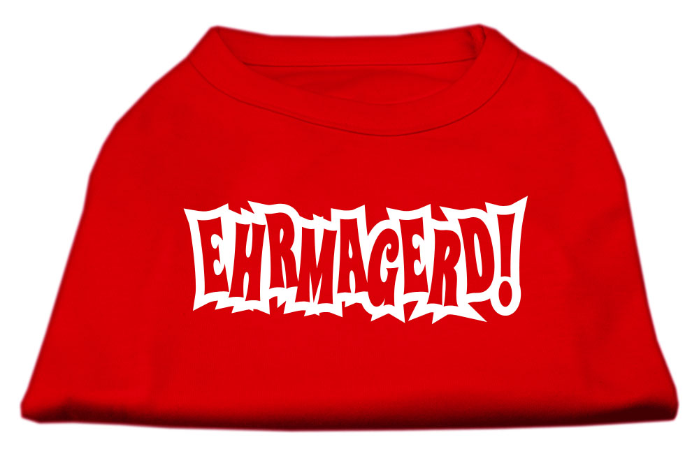 Ehrmagerd Screen Print Shirt Red XL (16)