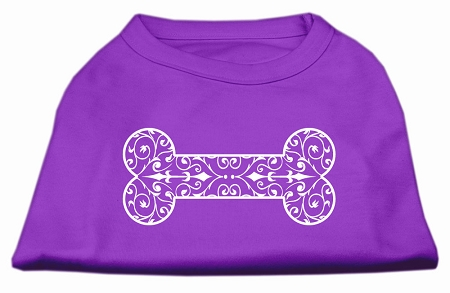 Henna Bone Screen Print Shirt Purple XL (16)