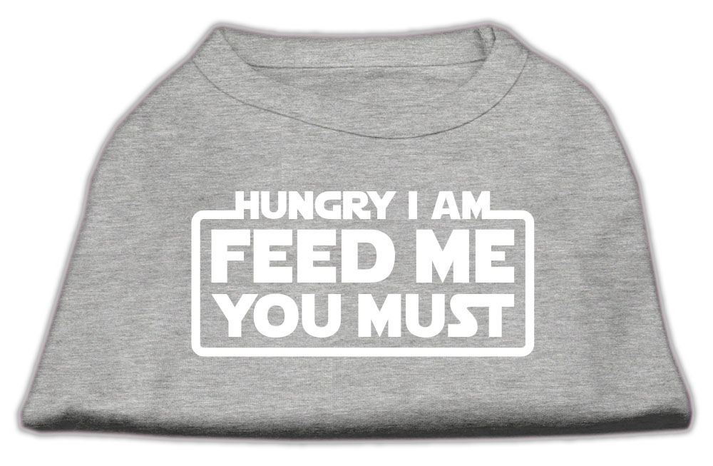 Hungry I am Screen Print Shirt Grey Med (12)
