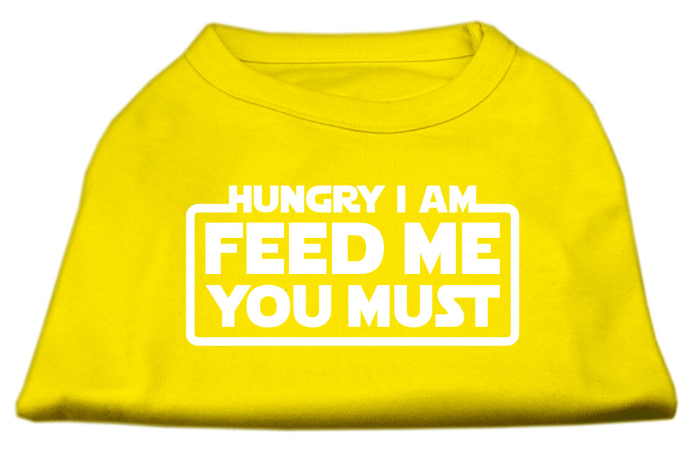 Hungry I Am Screen Print Shirt Yellow Med (12)