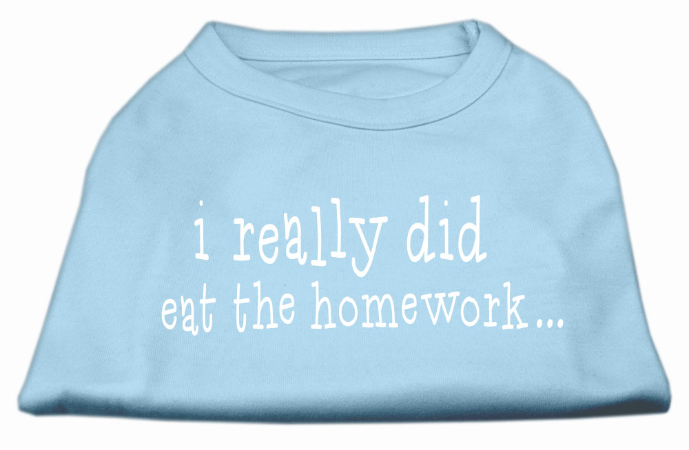I really did eat the Homework Screen Print Shirt Baby Blue XL (16)