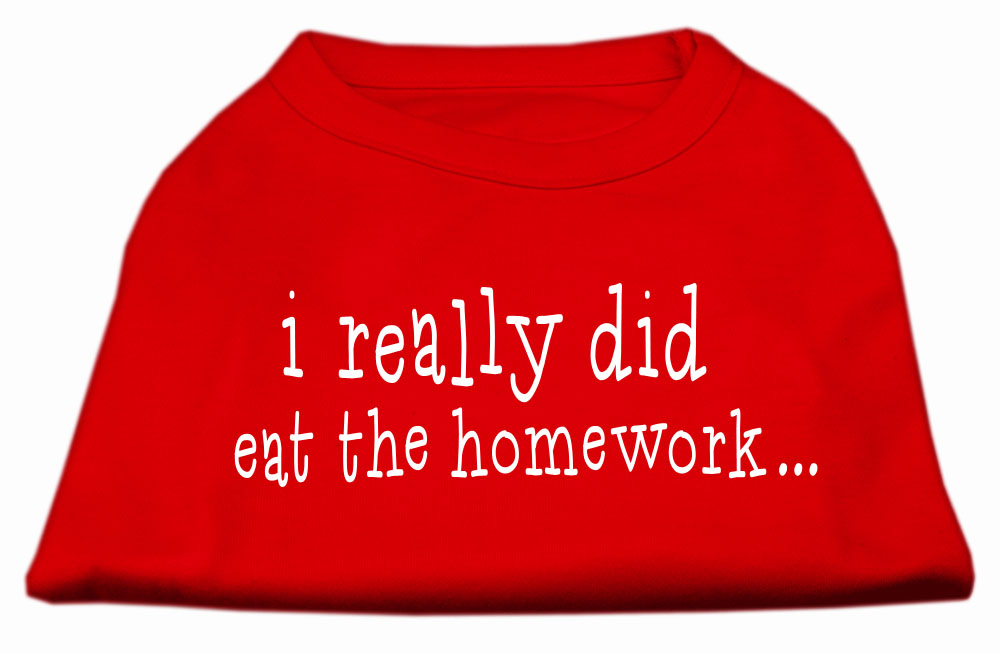 I really did eat the Homework Screen Print Shirt Red XS (8)