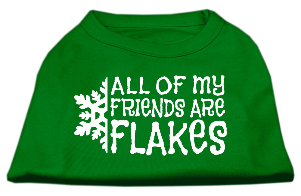 All my Friends are Flakes Screen Print Shirt Emerald Green Med (12)
