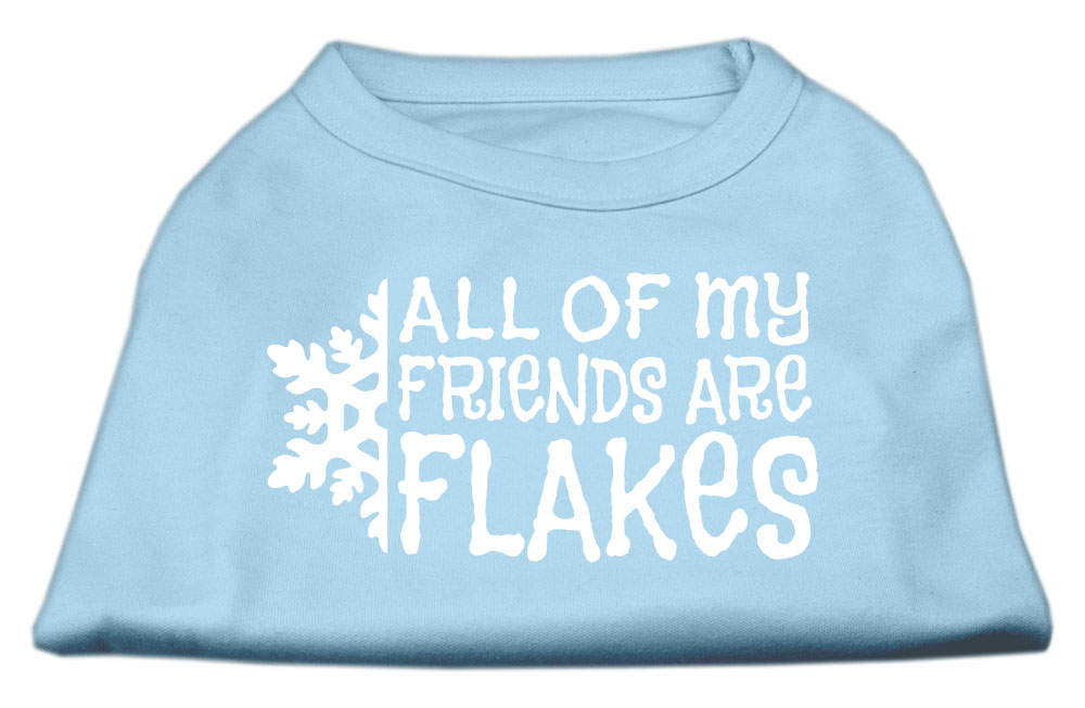 All my friends are Flakes Screen Print Shirt Baby Blue XXXL(20)
