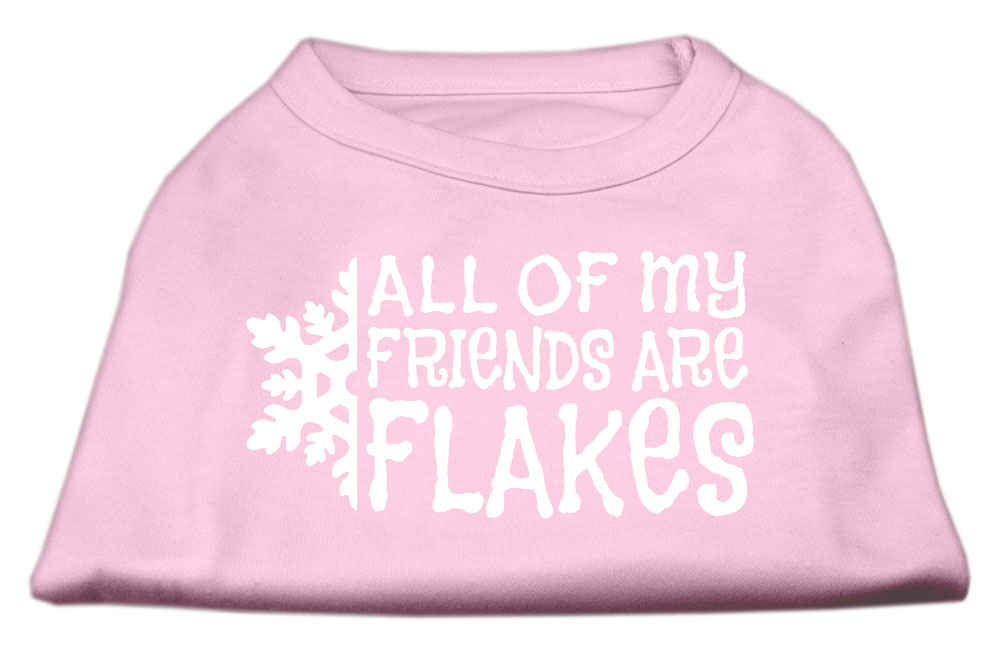 All my friends are Flakes Screen Print Shirt Light Pink XXL (18)