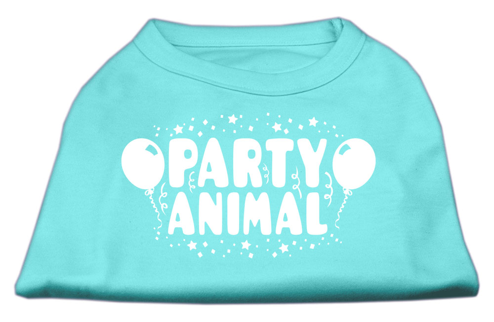 Party Animal Screen Print Shirt Aqua XXL (18)