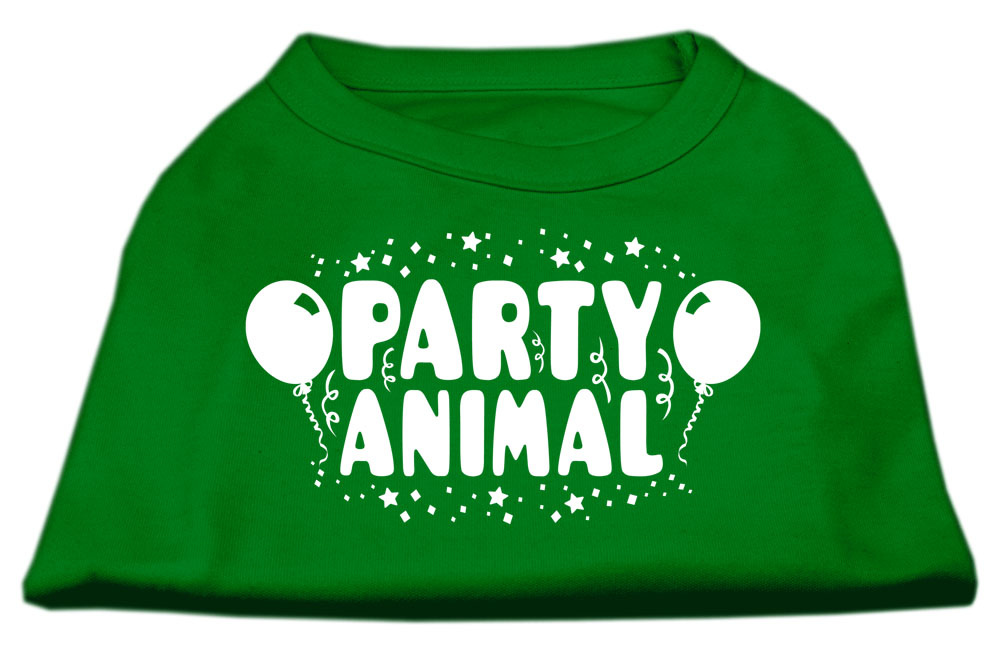 Party Animal Screen Print Shirt Emerald Green XS (8)