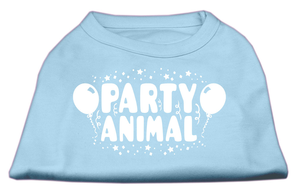 Party Animal Screen Print Shirt Baby Blue Sm (10)