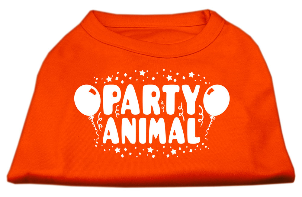 Party Animal Screen Print Shirt Orange XS (8)
