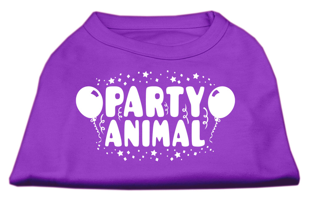 Party Animal Screen Print Shirt Purple Med (12)