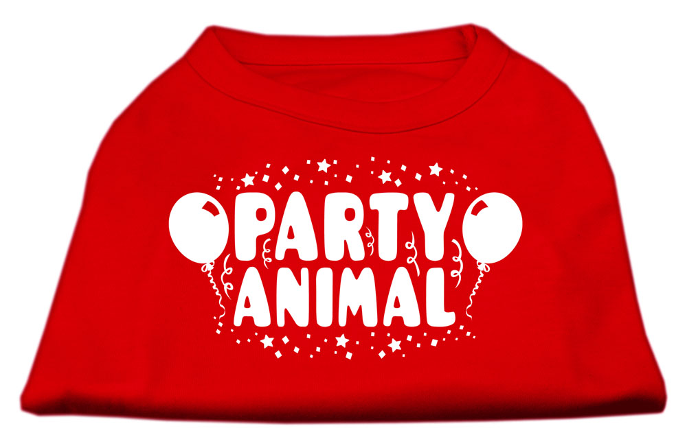 Party Animal Screen Print Shirt Red Med (12)