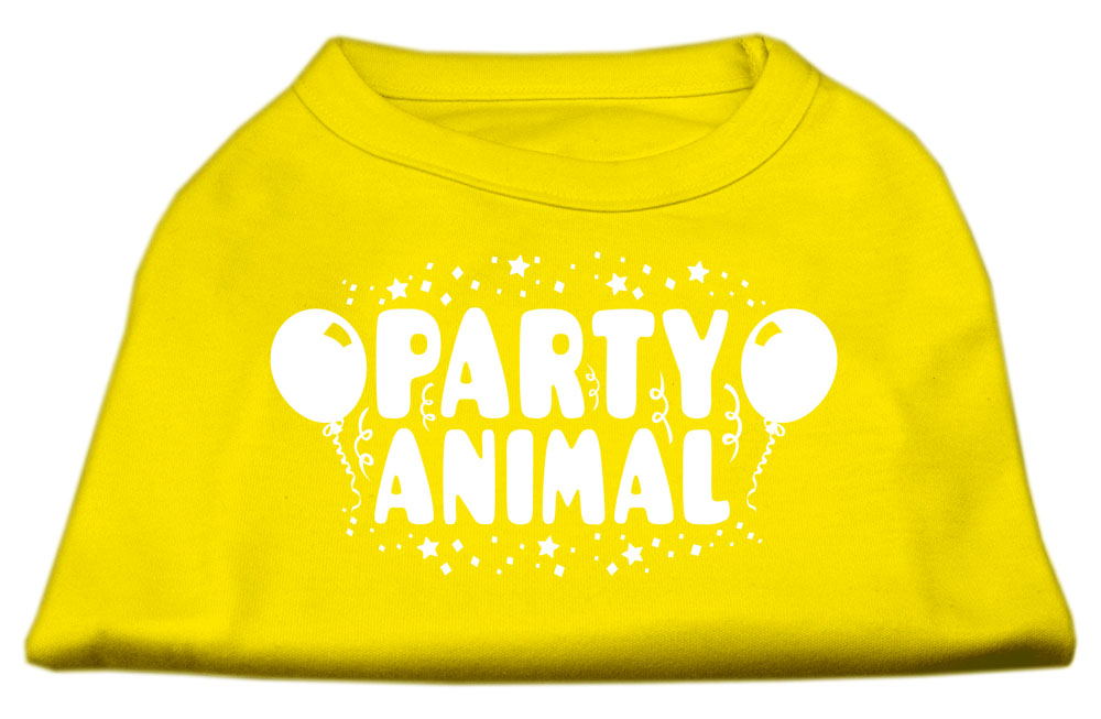 Party Animal Screen Print Shirt Yellow Lg (14)