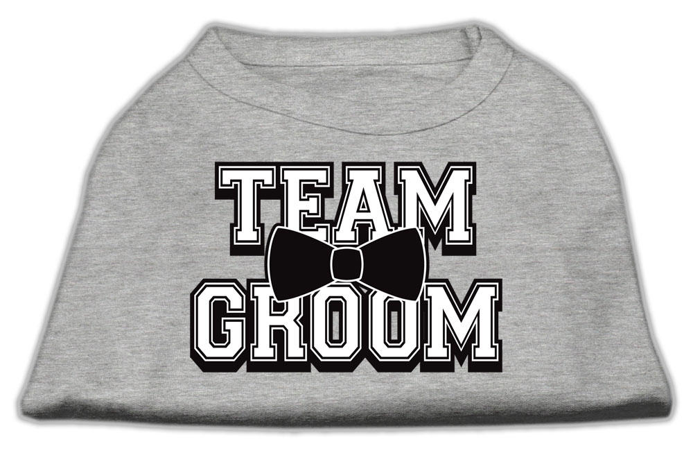 Team Groom Screen Print Shirt Grey Med (12)