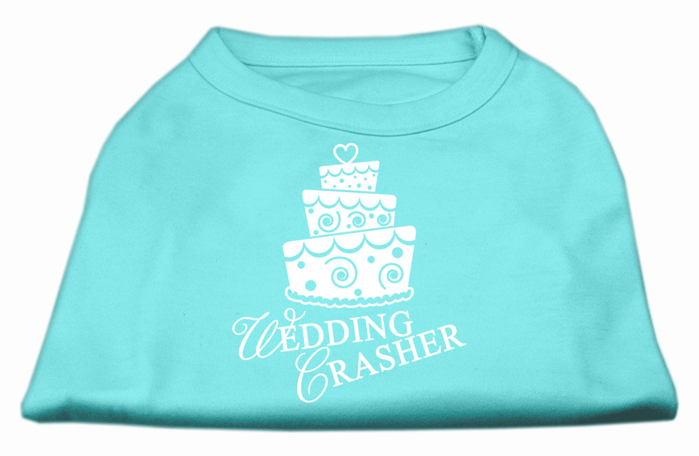 Wedding Crasher Screen Print Shirt Aqua XXL (18)