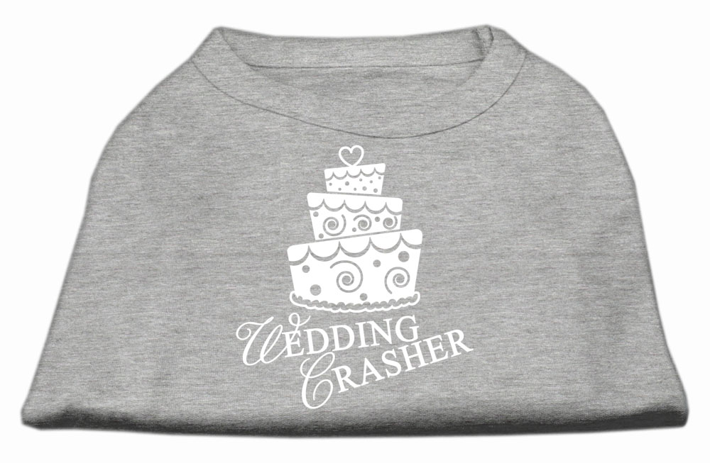 Wedding Crasher Screen Print Shirt Grey XXL (18)