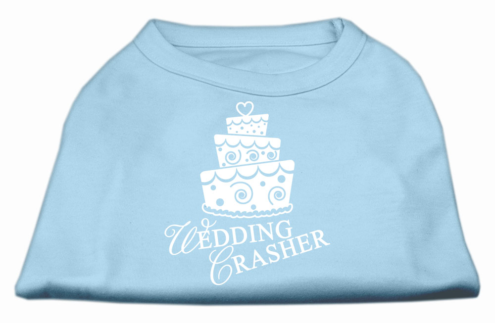 Wedding Crasher Screen Print Shirt Baby Blue XXXL (20)