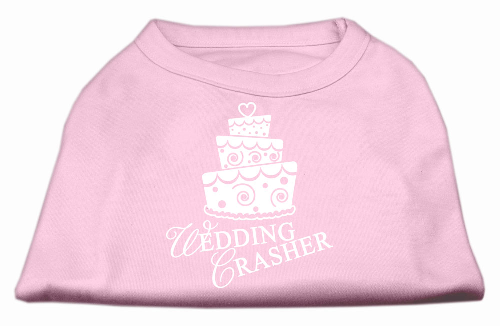 Wedding Crasher Screen Print Shirt Light Pink  XS (8)