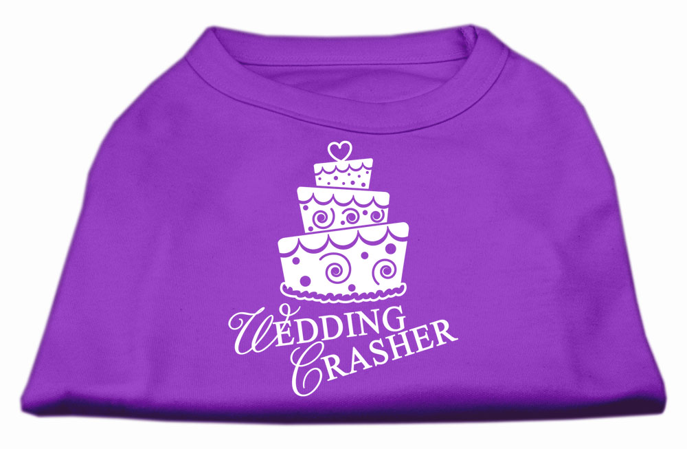 Wedding Crasher Screen Print Shirt Purple XXXL (20)
