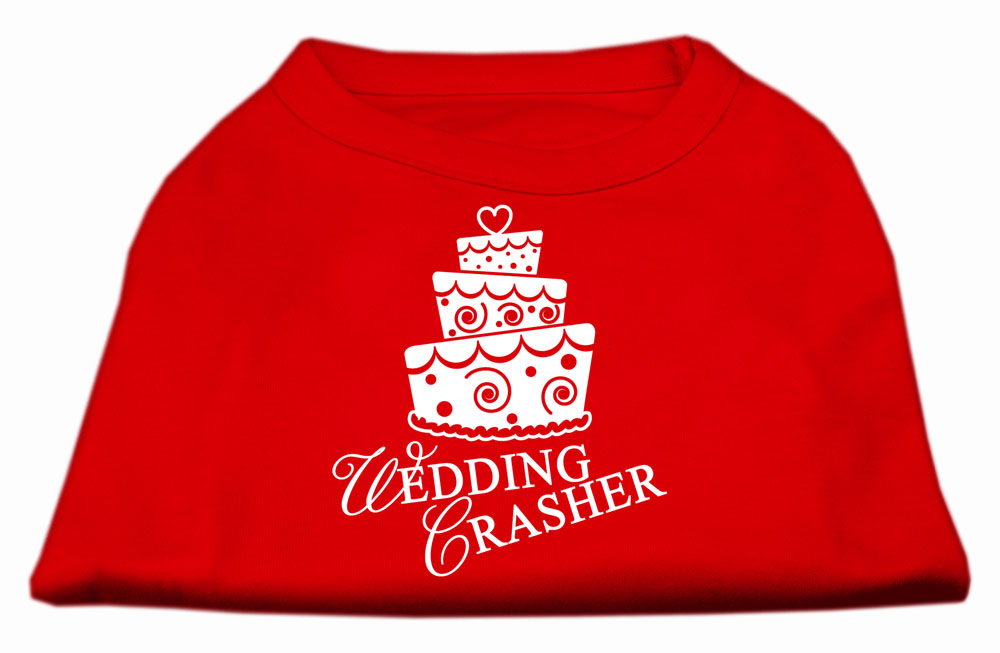 Wedding Crasher Screen Print Shirt Red  Med (12)