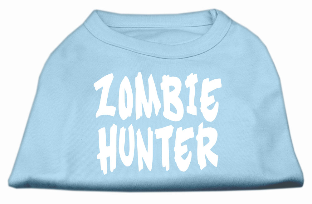 Zombie Hunter Screen Print Shirt Baby Blue XXXL(20)