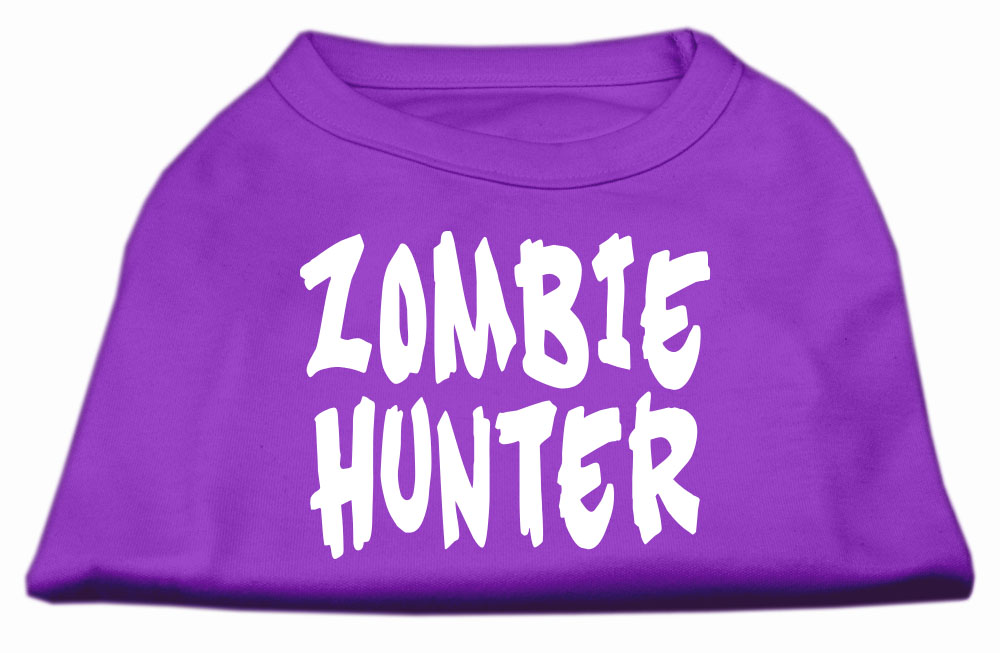 Zombie Hunter Screen Print Shirt Purple XXXL(20)