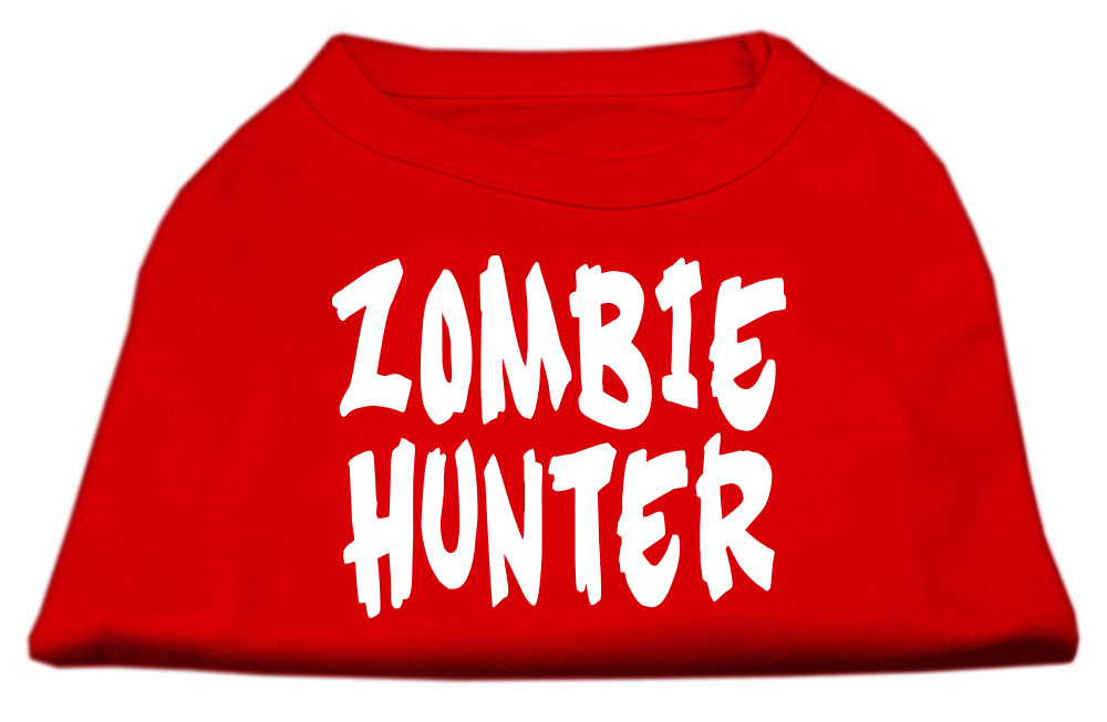 Zombie Hunter Screen Print Shirt Red XXL (18)