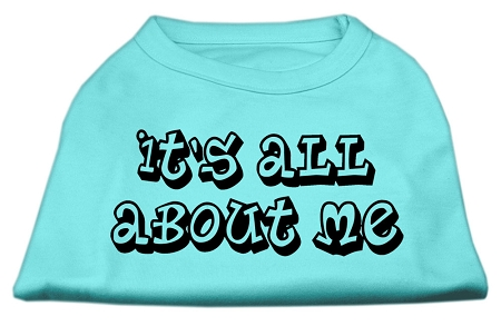 It's All About Me Screen Print Shirts Aqua XL (16)