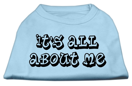 It's All About Me Screen Print Shirts Baby Blue XXXL (20)