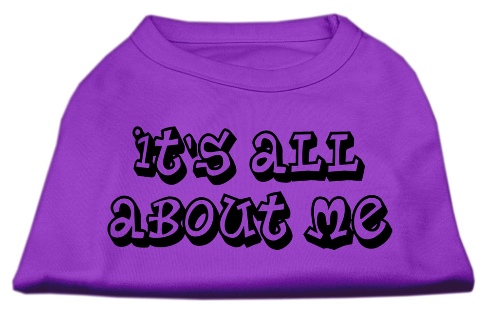 It's All About Me Screen Print Shirts Purple XXL (18)