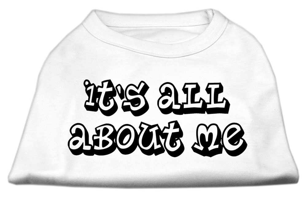 It's All About Me Screen Print Shirts White XXXL (20)
