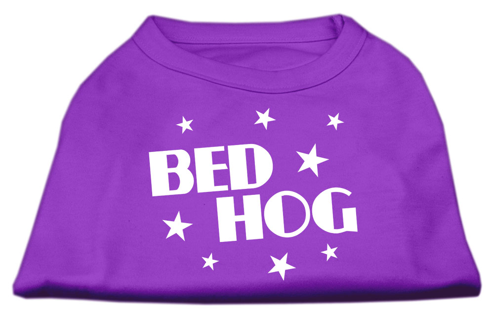 Bed Hog Screen Printed Shirt  Purple XS (8)