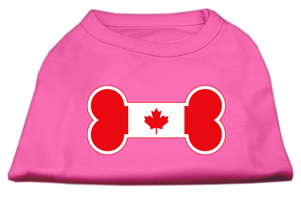 Bone Shaped Canadian Flag Screen Print Shirts Bright Pink XXL (18)