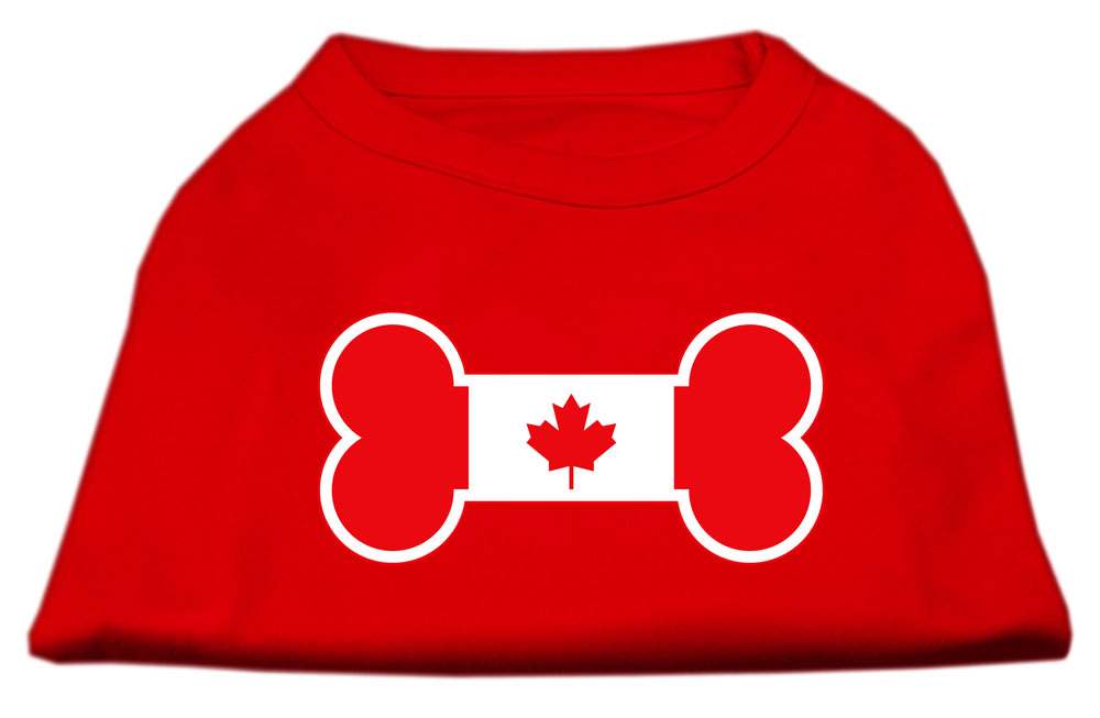 Bone Shaped Canadian Flag Screen Print Shirts Red XXL (18)