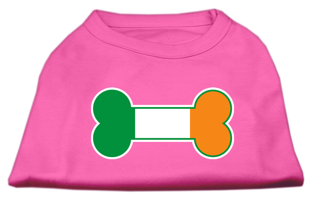 Bone Flag Ireland Screen Print Shirt Bright Pink Sm (10)