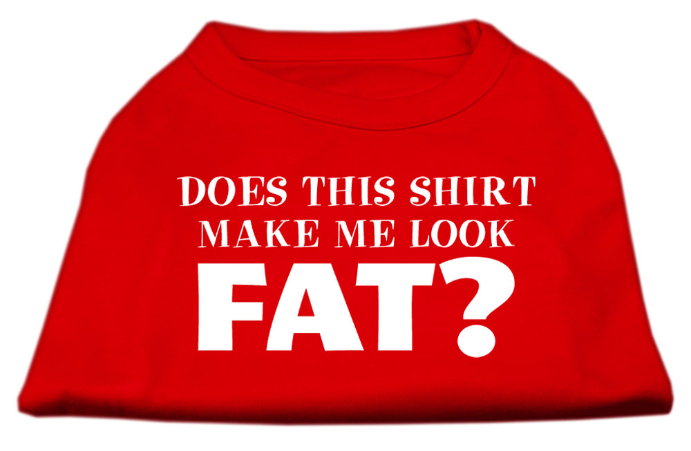 Does This Shirt Make Me Look Fat? Screen Printed Shirt Red Sm (10)