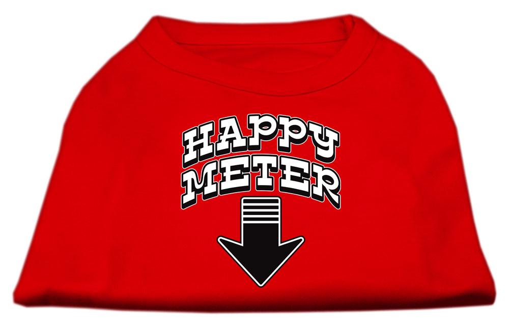 Happy Meter Screen Printed Dog Shirt Red XXXL (20)