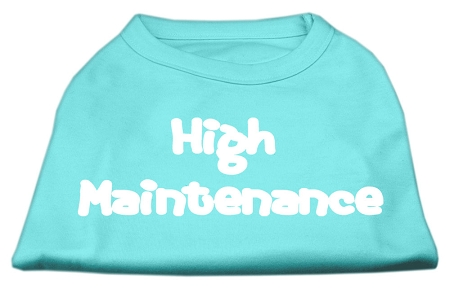 High Maintenance Screen Print Shirts  Aqua XXXL(20)