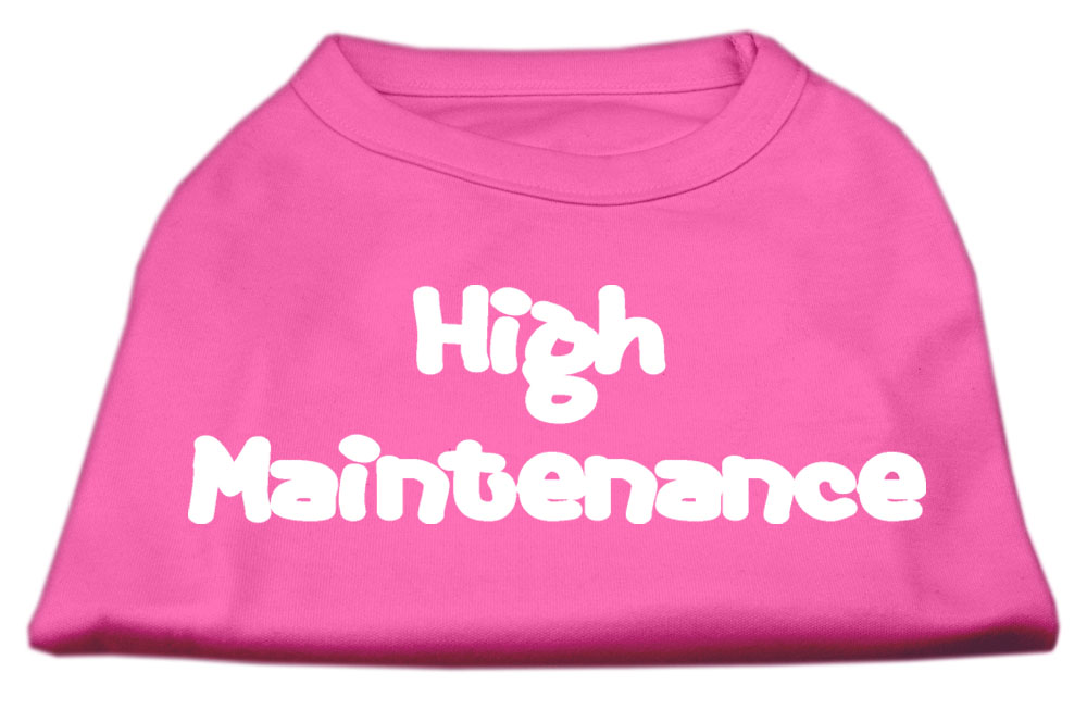 High Maintenance Screen Print Shirts  Bright Pink M (12)