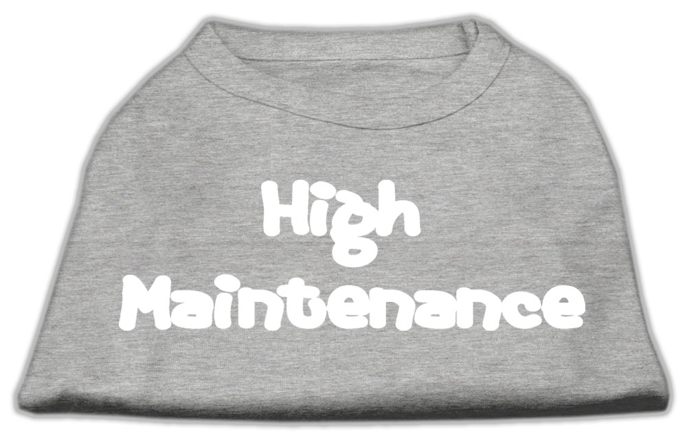 High Maintenance Screen Print Shirts  Grey S (10)
