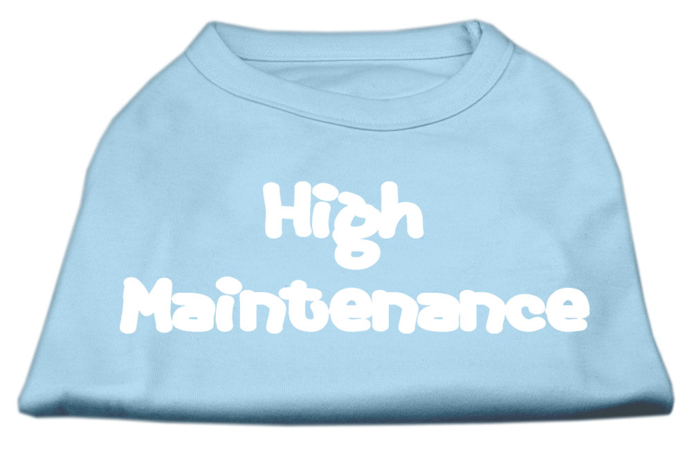 High Maintenance Screen Print Shirts  Baby Blue L (14)
