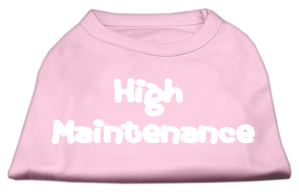 High Maintenance Screen Print Shirts  Light Pink XXXL(20)