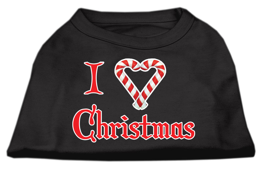 I Heart Christmas Screen Print Shirt  Black  XXL (18)