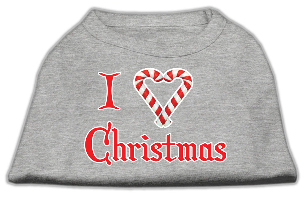 I Heart Christmas Screen Print Shirt  Grey XXXL (20)