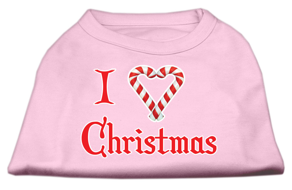 I Heart Christmas Screen Print Shirt  Light Pink XL (16)